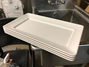 Delfin Trc 2112as Melamine White Pacific Rim Tray Stackable Plates 21 x12 x1 5