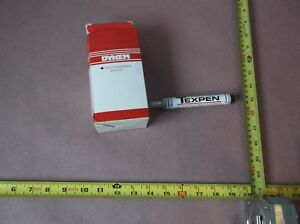 Dykem 16080 Industrial Paint Marker Texpen Fine Tip White qty 7