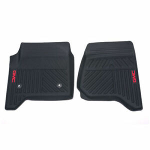 23452756 yukon Front All weather Floor Mats In Ebony Black With Gmc Logo