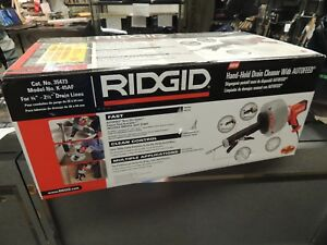 Ridgid 35473 Hand held Drain Cleaner With Autofeed Model K 45af New Sealed Box