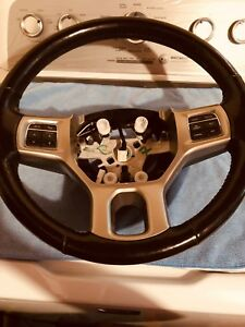 Dodge Ram 13 18 1500 Steering Wheel Black Leather W Gear Buttons Oem