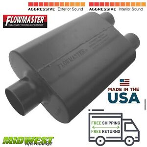 9430452 Flowmaster Super 44 Muffler 3 Center Inlet 2 5 Dual Outlet