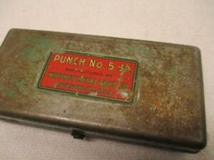 Vintage Whitney Punch No 5 Jr W Case Metal Working Tool Rockford Illinois Usa