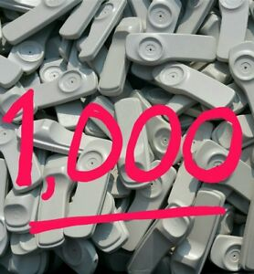 Lot Of 1000 And Pins Security Sensormatic Supertags Retail Anti Theft Tags 58khz