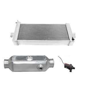 Cxracing 5 Liquid Water To Air Intercooler Heat Exchanger Pump Kit