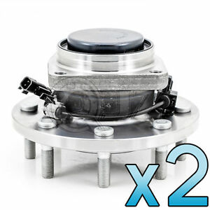 For 2011 2014 Chevrolet Silverado 3500 Hd Front Pair Wheel Hub Assembly W Abs