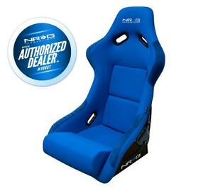 Nrg Large Fiberglass Bucket Seat Blue Cloth W Nrg Logo