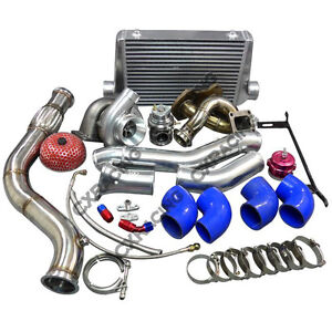 Single Turbo Manifold Intercooler Kit For Mazda Rx7 Sa Fb 13b Blue Rx 7