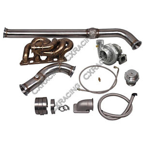 Cxracing Gt35 Turbo Manifold Kit For Datsun 510 Sr20det Engine Swap