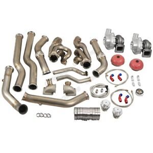 Cx Twin Turbo Header Kit T72 For 68 72 Chevelle Bbc Big Block 396 402 427 454
