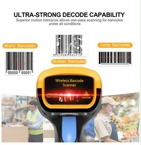 Trohestar 433mhz Wireless Barcode Scanner 1d Usb Handheld Bar Code Reader Laser