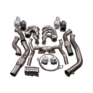 Twin Ball Bearing Turbo Manifold Downpipe Kit For 64 67 Chevelle Bbc Big Block