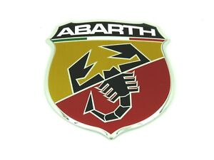 Genuine New Fiat Abarth Front Bumper Grille Badge Emblem For 500 Abarth