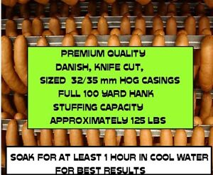 Natural Hog Casings For Sausage knife Cut Worlds Best 32 35 Full 300 Ft