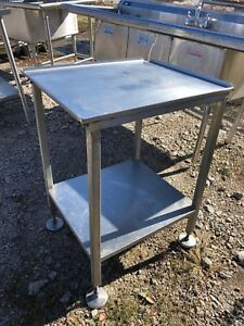 Stainless Steel 25x22 Commercial Heavy Duty Food Prep Work Table Slicer Stand