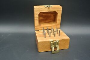 Set Of 12 1 8 Carbide Deburring Bits With Wooden Storage Box