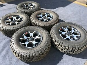5 Jeep Rubicon 2019 Wheels Tires Rims Oem Factory Jl Take Off Rare Black