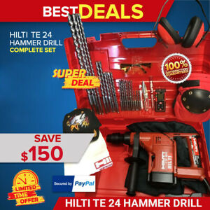 Hilti Te 24 Drill preowned Free Laser Extras Made In Germany Fast Shipping