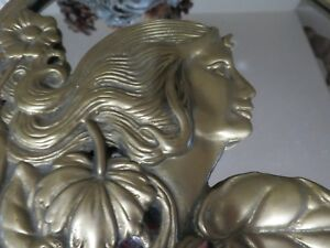 Vintage Or Antique Frankart Art Deco Art Nouveau Brass Mirror Gorgeous