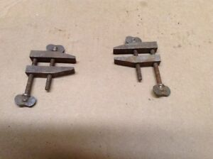 2 Small Metal Machinist Block Clamps Si 07