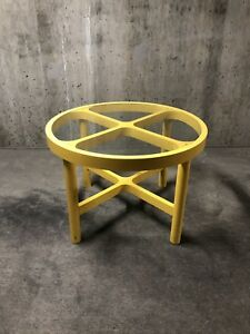 Mid Century Plastic Yellow Dining Table Attrib Kartell Joe Colombo Otto Zapf