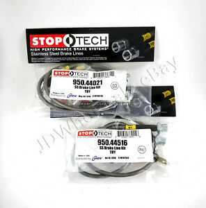 Stainless Steel Front Rear Brake Lines For 97 01 Toyota Camry Stoptech