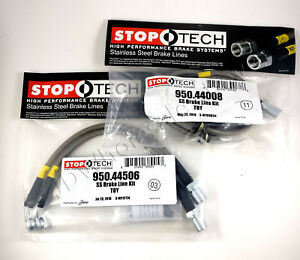 Stainless Steel Front rear Brake Lines For 93 98 Toyota Supra Mk4 2jz Stoptech