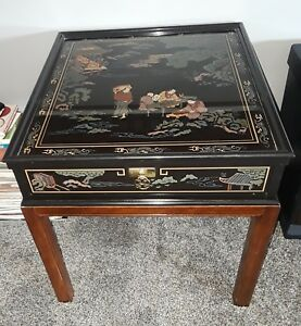 Drexel Heritage Chinoiserie Chippendale Side Table Very Rare Find Superb Cond