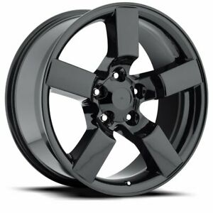 Factory Reproductions Fr 50 Ford Lightning 20x9 5x5 5 Offset 8 Blk Qty Of 1