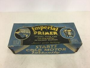 Vintage 1933 Imperial Manual Fuel Primer Box Hot Rod Chevy Ford Model T Dodge