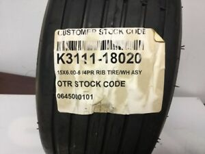 Kubota Tire Assy 15x6 6 Part k3111 18020