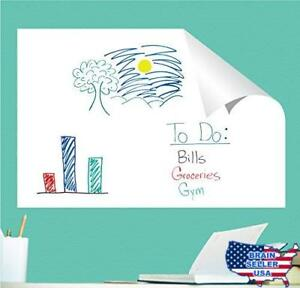 Everase Re stic Dry Erase Self adhesive Peel Stick Sheet 24 X 36 In Free M
