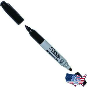 Ship Now Supply Snmk421 Sharpie Super Twin tip Permanent Markers Black pack Of