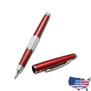 Pentel Sharp Kerry Automatic Pencil 0 5 Mm Red Barrel With Lead Refills And Er