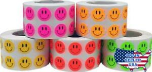 Smiley Face Stickers Happy Face Labels For Teachers Bulk Pack 1 2 Inch Round Cir