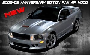 2005 2009 Ford Mustang Sms Style Functional Ram Air Hood 90 Day Warranty