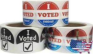 I Voted Stickers Bulk Pack 3 Different Labels 2 Inch Round Circle Dots 500 Per L