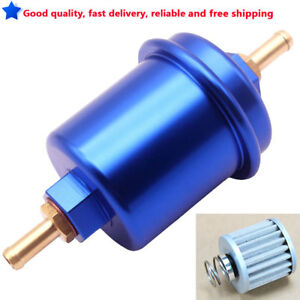 Blue Universal Aluminum High Flow Performance Fuel Filter Washable Filter 200psi