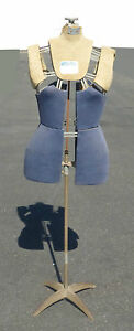 Rare Antique Vintage Mannequin Dress Form Adjustable 14 Sections By Heartside