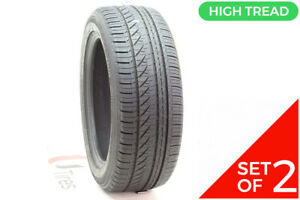 Set Of 2 Used 215 55r17 Bridgestone Turanza Serenity Plus 94v 8 8 5 32