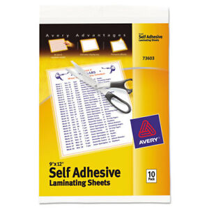 Clear Self adhesive Laminating Sheets 3 Mil 9 X 12 Matte Clear 10 pack