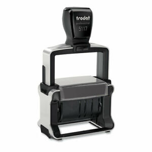 Trodat Professional 12 message Stamp Dater Self inking 2 1 4 X 3 8 Black