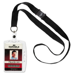 Id security Card Holder Set Vertical horizontal Lanyard Clear 10 pack