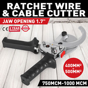 Ratcheting 1000 Mcm Wire Cable Cutter Electrical Tool 500mm2 Local 1 7inch