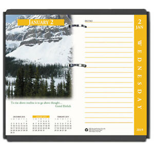 Earthscapes Desk Calendar Refill 31 2 X 6 2019
