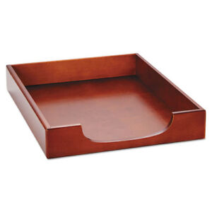 Wood Tones Letter Desk Tray Wood Mahogany