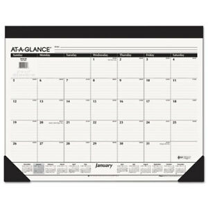 Monthly Refillable Desk Pad 22 X 17 White 2019