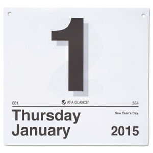 Today Is Daily Wall Calendar Refill 8 1 2 X 8 White 2019