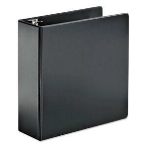 Superstrength Locking Slant d Ring Binder 4 Cap 11 X 8 1 2 Black