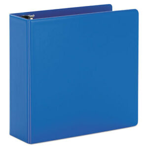 Superstrength Locking Slant d Ring Binder 4 Cap 11 X 8 1 2 Blue